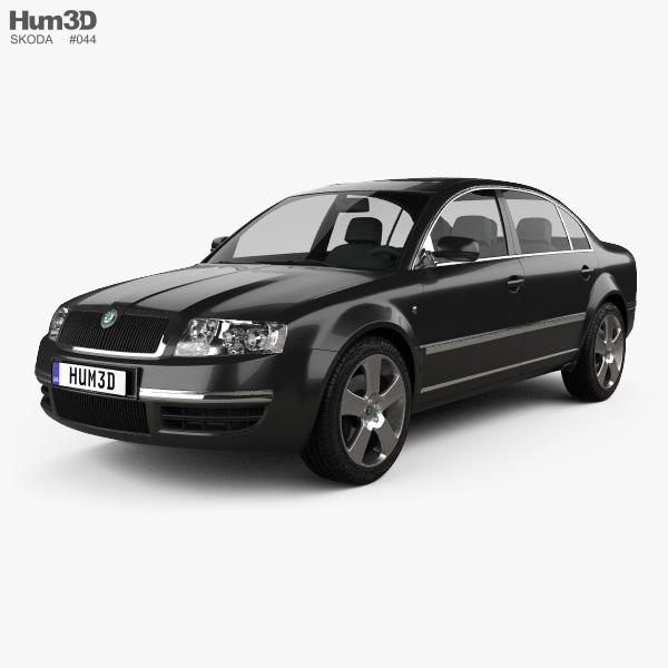 Skoda Superb 2001 3D model