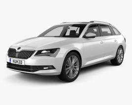 3D model of Skoda Superb Combi 2016
