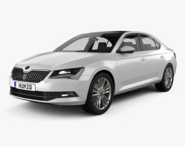 3D model of Skoda Superb liftback 2016