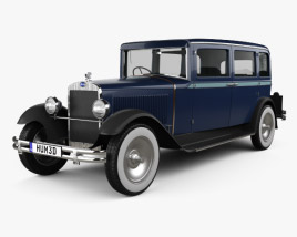 3D model of Skoda 645 Limousine 1930