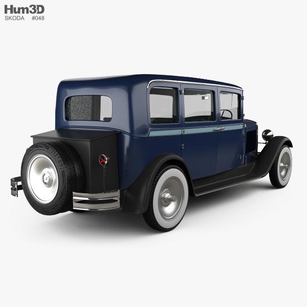 Skoda 645 Limousine 1930 3D model