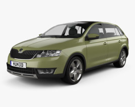 3D model of Skoda Rapid Spaceback Scoutline 2015