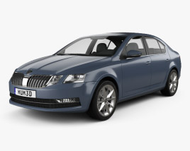 3D model of Skoda Octavia liftback 2017
