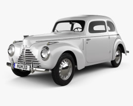 3D model of Skoda 1101 (Type 938) Tudor 1946