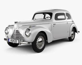 Skoda 1101 (Type 938) Tudor 1946 3D model