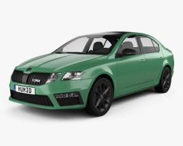 3D model of Skoda Octavia RS liftback 2017