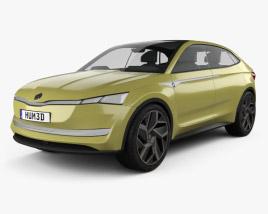 3D model of Skoda Vision E 2017
