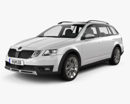 3D model of Skoda Octavia Scout 2017
