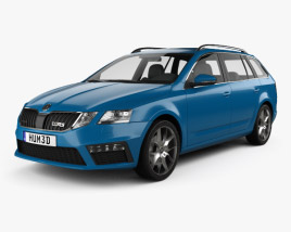 3D model of Skoda Octavia RS combi 2017