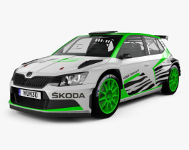 3D model of Skoda Fabia R5 2016