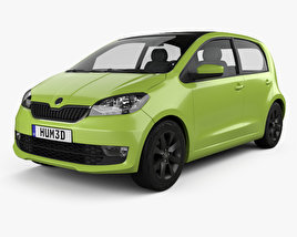 3D model of Skoda Citigo 5-door 2017