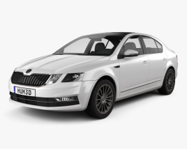 3D model of Skoda Octavia CN-spec liftback 2018