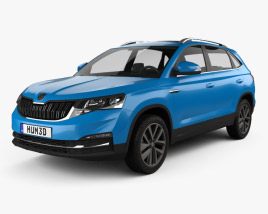3D model of Skoda Kamiq SUV 2018