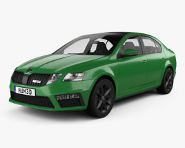 3D model of Skoda Octavia RS liftback with HQ interior 2017
