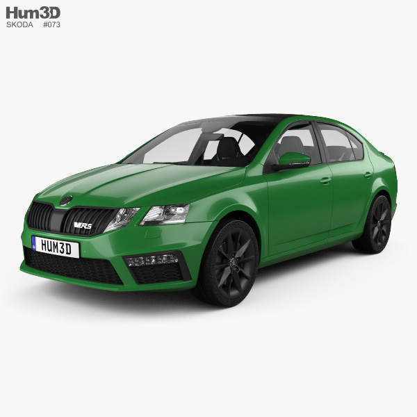 Skoda Octavia RS liftback with HQ interior 2017 3D model