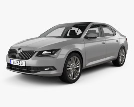 3D model of Skoda Superb liftback with HQ interior 2016