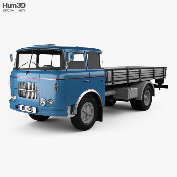 Skoda Liaz 706 RT Flatbed Truck 1957 3D model