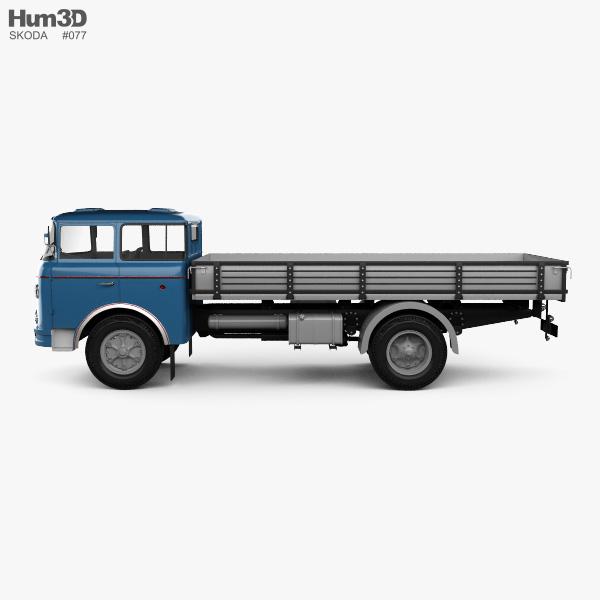 Skoda Liaz 706 RT Flatbed Truck 1957 3D model