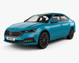 3D model of Skoda Octavia liftback 2020