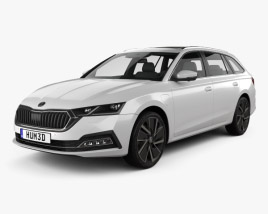 3D model of Skoda Octavia IV combi 2020