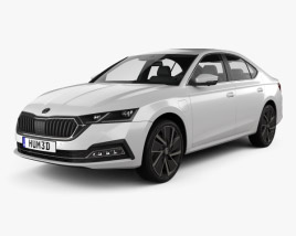 3D model of Skoda Octavia IV liftback 2020
