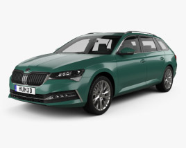 3D model of Skoda Superb combi 2020