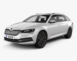 3D model of Skoda Superb combi iV 2020