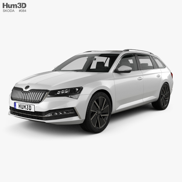 Skoda Superb combi iV 2020 3D model