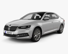 3D model of Skoda Superb liftback 2020