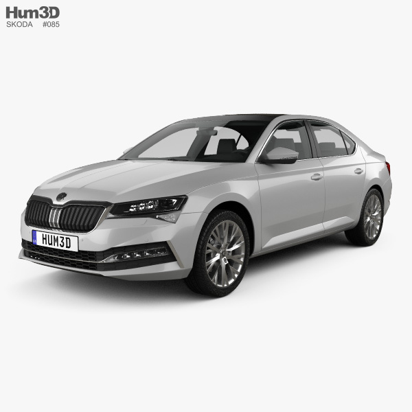 Skoda Superb liftback 2020 3D model