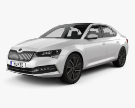 3D model of Skoda Superb iV liftback 2020