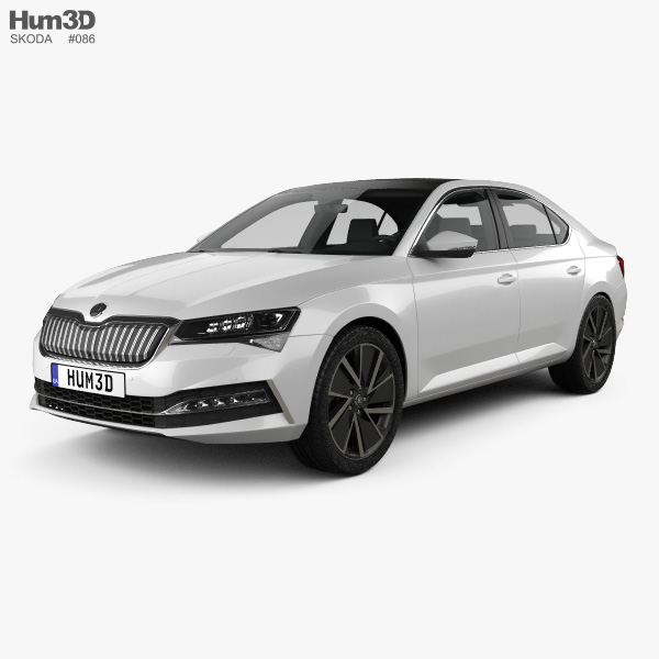 Skoda Superb iV liftback 2020 3D model