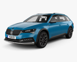 3D model of Skoda Superb Scout 2020