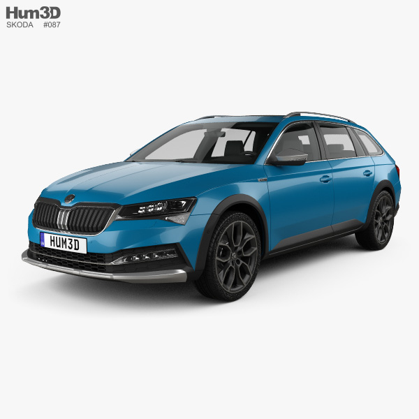 Skoda Superb Scout 2020 3D model