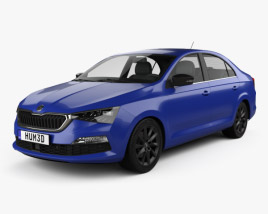 3D model of Skoda Rapid CIS-spec 2020