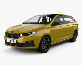 3D model of Skoda Rapid CN-spec spaceback 2020