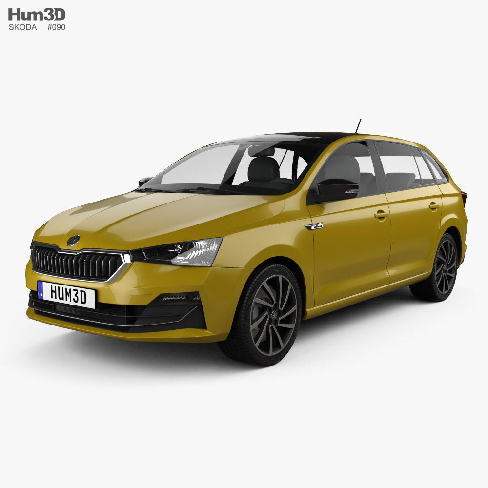 Skoda Rapid CN-spec spaceback 2020 3D model