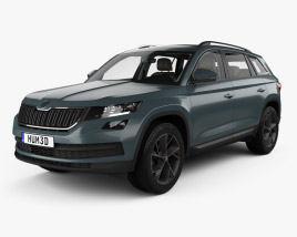 3D model of Skoda Kodiaq with HQ interior 2017
