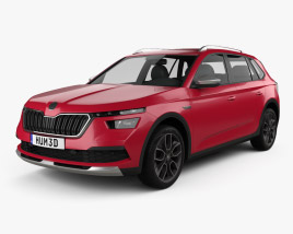 3D model of Skoda Kamiq Scoutline 2020