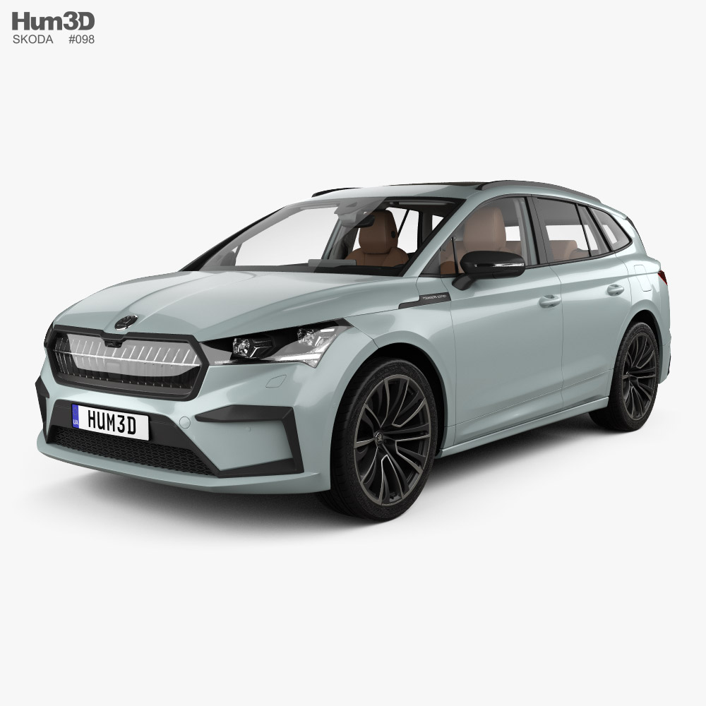 Skoda Enyaq iV Founders Edition with HQ interior 2021 3D model