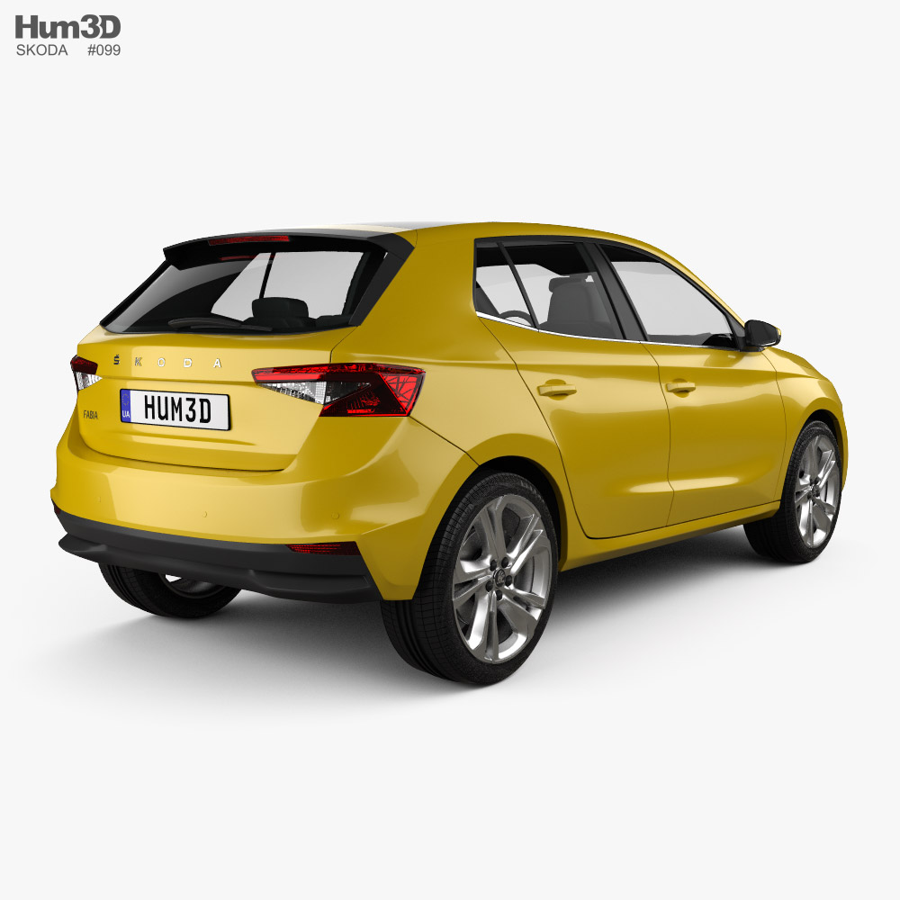 Skoda Fabia hatchback 2022 3d model