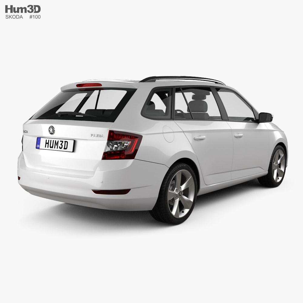 Skoda Fabia combi 2018 3d model back view
