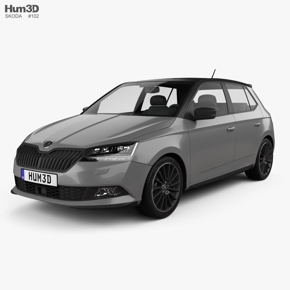 Skoda Fabia Monte Carlo hatchback 2018 3D model