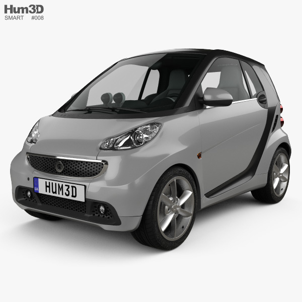 Smart Fortwo coupe 2012 3Dモデル