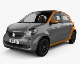 3D model of Smart Forfour 2014
