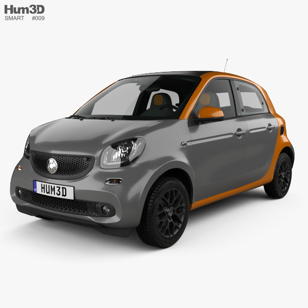 Smart Forfour 2014 3Dモデル