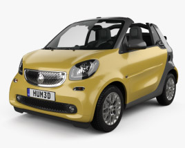 3D model of Smart Fortwo Cabrio 2014