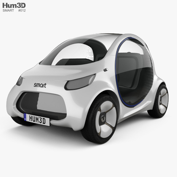 Smart Vision EQ Fortwo 2017 3Dモデル