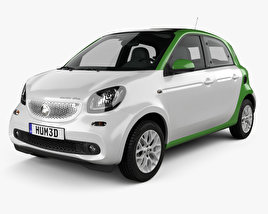 3D model of Smart ForFour Electric Drive 2017