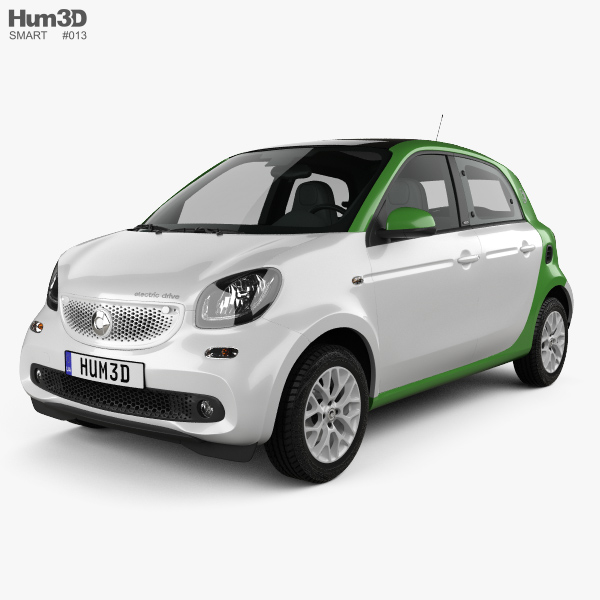 Smart ForFour Electric Drive 2017 3Dモデル